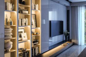 LED-Schrankbeleuchtung-mit Aluprofilen